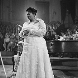 Mahalia Jackson today in music history
